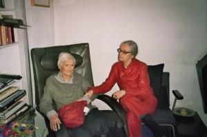 De laatste foto van mijn moeder en mij op haar 94e verjaardag, die ze niet halen zou!
