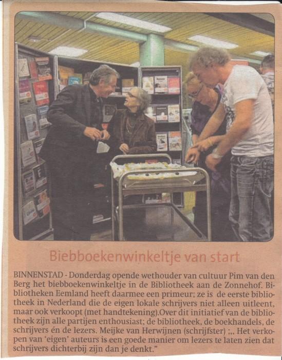 De Stad Amersfoort 12-9. Wethouder Pim van den Berg in gesprek met de schrijfster Manja Croiset!