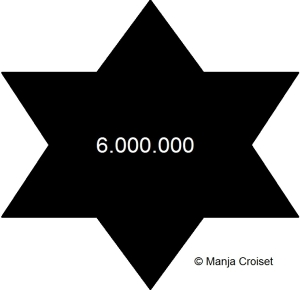 Zwarte Davidsster 6.000.000 naam er buiten jpg