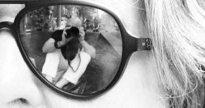 in de zonnenbril van Sietie