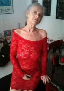 de oude prima ballerina met houvast