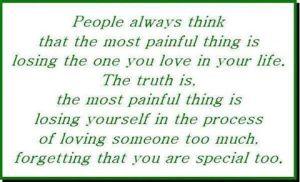 loosing your self