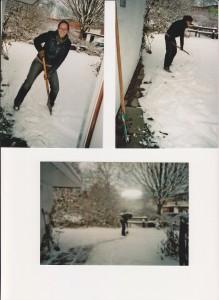 Wendy ruimt sneeuw 2010