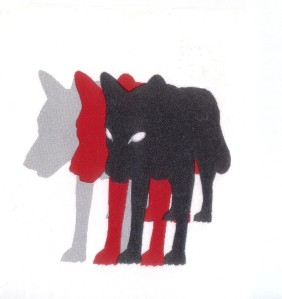 3 wolven andersomZonderLijn